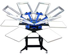 Screen printing carousel Hobby -  6 colors